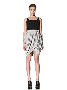 McQ by Alexander McQueen Women's Wrap Drape Skirt (Cream White)