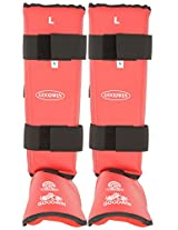 GOODWIN Unisex Karate Shinguard KAI Approved Large (Red)