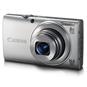 Canon PowerShot A4000 IS 16MP Point and Shoot Camera (Silver) with 8x Optical Zoom, Memory Card and Camera Case