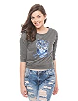 Prym Women's Printed Cropped Sweatshirt