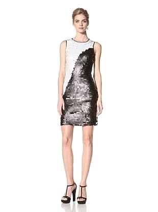 Marc New York Women's Colorblock Paillette Dress (Black/White)