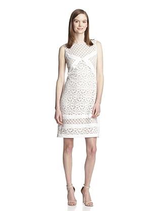 Muse Women's Lacy Shift Dress (White)
