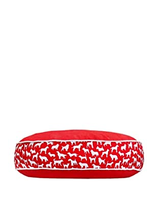 Harry Barker Kennel Club Round Bed (Red)