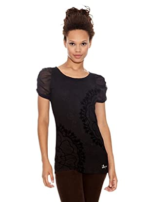 Desigual Camiseta Babiche (Negro Estampado)