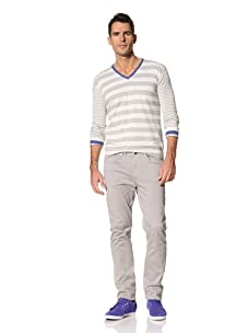 Yigal Azrouël Men's Stretch Cotton Twill Pant (Heather Grey)