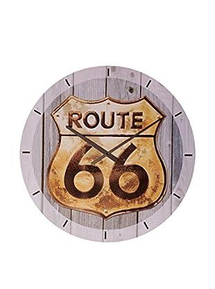 Artopweb Reloj De Pared Route 66 Golden Sign