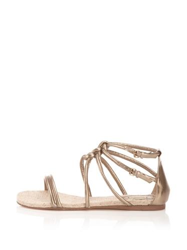 MaxStudio Women's Sear Flat Espadrille Sandal (Soft Gold)