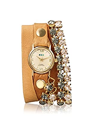 La Mer Collections Women's LM7617 Gold-Tone/Camel Leather Watch