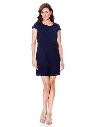Cortefiel Kleid Croché (Blau)
