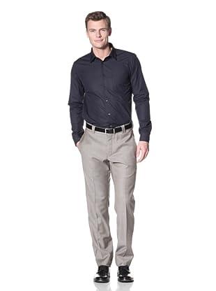 Incotex Ivory Men's Sharkskin Trousers (British Tan)
