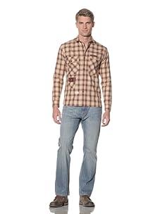 Marshall Artist Men's Hunting Shirt (Cream/Brown)
