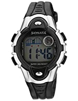 Sonata Super Fibre Digital Grey Dial Men's Watch - 87012PP04