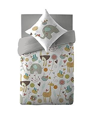 COSTURA Bettdecke und Kissenbezug Zooland