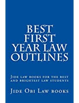 Best First Year Law Outlines: Jide Law Books for the Best and Brightest Law Students