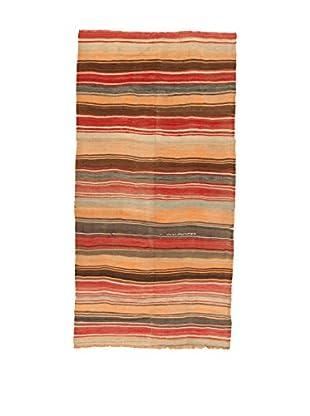 Design Community By Loomier Teppich Kilim Caucasico rot/mehrfarbig 144 x 283 cm