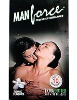 Manforce Dotted Jasmine 10's Condom