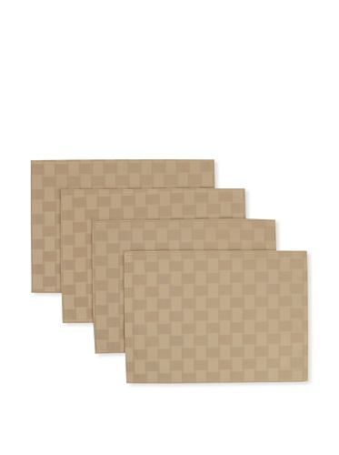 Bardwil Set of 4 Reflections Placemats (Khaki)
