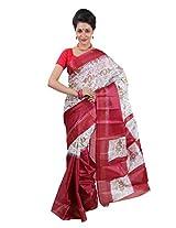 Parichay Women's Silk Saree(Red)
