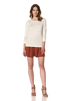 M. Patmos Women's Carmel Reversible Pointelle Sweater