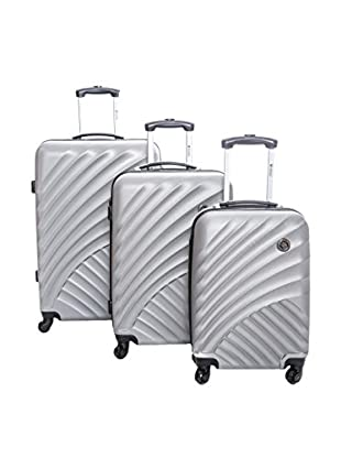 Geographical Norway Set de 3 trolleys rígidos Scoop