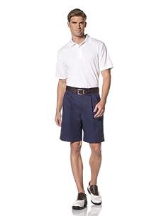 PGA Tour Men's Solid Polo (Bright White)