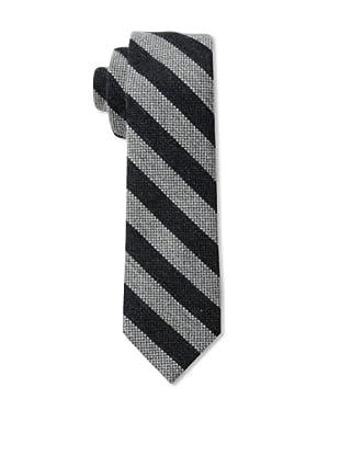 Gitman Men's Stripe Tie, Black