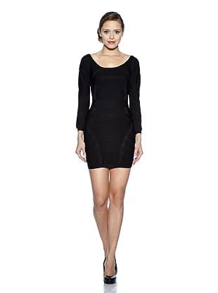 Corizzi & Absolu Vestido Escote En Espalda Cóctel (Negro)