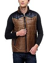 Yepme Men's Polyester Jacket (YPMJACKT0059_Brown_Large)