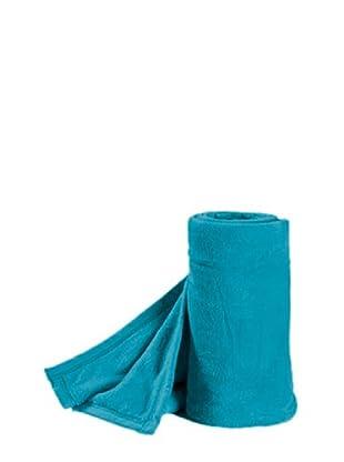 Nido Plaid Microfibra Tacto Coral 130X150 (Azul)
