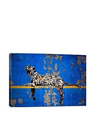 Banksy Yankee Stadium Tiger Gallery Wrapped Canvas Print