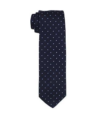 Desanto Men's Smeraldo Grenadine Tie, Navy/Light Blue