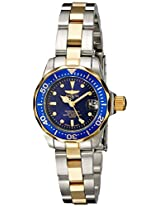 Invicta Pro-Diver Analog Blue Dial Women's Watch - 8942