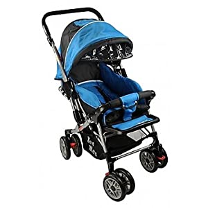 Pram With All Four Rotating Wheels