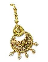 Divinique Jewelry Kundan Pearl Polki Maang tikka