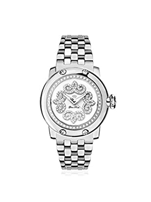 Glam Rock Women's GR40414D Miami Silver/White Stainless Steel Watch