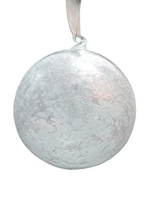 Sage & Co. Frosted Icy Glass Ball Ornament