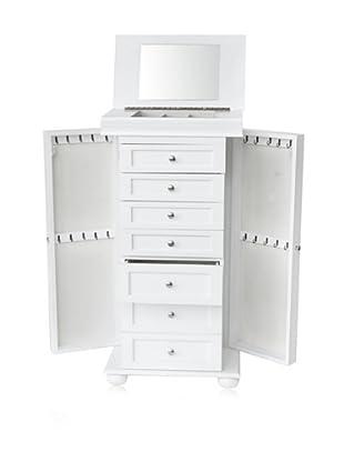 Dalton Home Collection Multi-Drawer Jewelry Armoire (White)