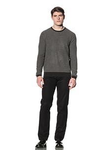 Cruciani Men's Crewneck Sweater (Dark Green/Grey)