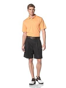PGA Tour Men's Double Pleat Microfiber Short (Caviar)
