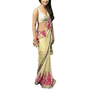 LifestyleMegamart LMMSBR66 Priyanka Chopra Saree - Cream