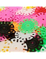 400Pcs Baby Kids Multicolor Snowflake Creative Building Blocks DIY Bricks Assembling Educational Gears Toys
