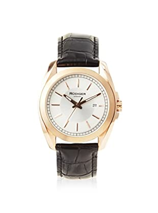 Rudiger Men's R1001-09-001L Dresden Rose/Black Leather Date Watch