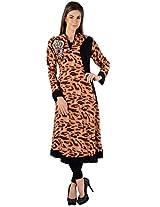 Zam Zam Women Linen A-Line Kurta (Ni00024 _Multi-Coloured _44)