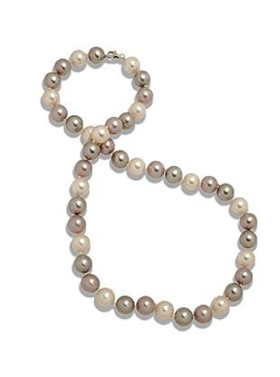 Perldor 60650023 - Collar de mujer de plata de ley con perla natural Crudo 60 cm