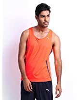 Puma PE Running T-Shirt, Men's X-Large (Orange)