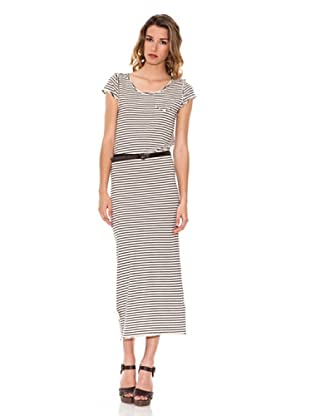 Pepe Jeans London Kleid Bibi (Weiß/Schwarz)
