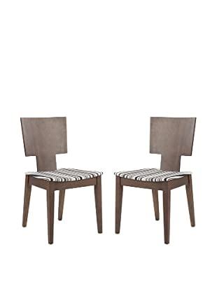 Set of 2 Rick Side Chairs, Stripe