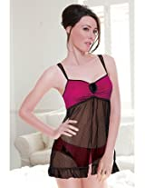 Enamor Babydoll Night Wear Pink