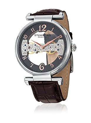 Stührling Original Uhr mit schweizer Mechanikuhrwerk Man Legacy 667.02 braun