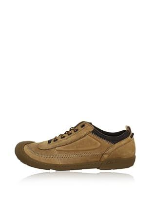 Clarks Leder Sneaker Moreton Flo (Braun)